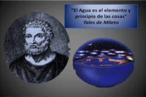 El primer científico, Tales de Mileto, sugiere que la Tierra es un disco y flota sobre el agua.
